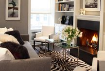 Black and white living room inspiration / by Alison Reid