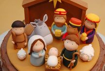nativity and crosses / by Marie Amaya