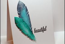 Cards - Feathers / by Jessie