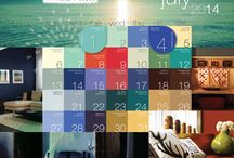 2014 Paint Color Calendar / A Year of Color, a Paint Color for Everyday   2014 Calendar of daily paint colors by PPG Voice of Color! We hope you have color in your life everyday!  / by PPG Voice of Color