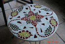 Mosaic Table & Sidewalk Ideas / by Annette Esquivel
