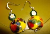 Millefiori earrings / by Denise Starr