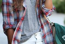 Plaid Shirt in an outfit / by Match Clothes Colors