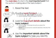 Teaching - ELA: Main Idea / by Shelee Brim