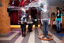 Family inside a bubble / People inside a beeboo® Big Bubble  / by Extreme Bubbles, Inc.