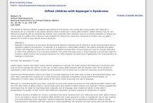 Aspergers vs Gifted / by The Big A Word