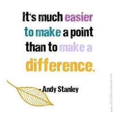 """""""Difference"""" Andy Stanley"""