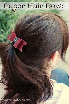Paper Hair Bows- A tutorial