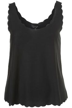 black scalloped top / topshop
