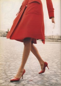 red shoes & coat: so classic