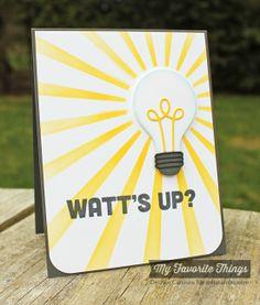 Watt's Up?, Lightbulb Die-namics, Sun Ray Stencil - Debbie Carriere #mftstamps