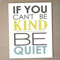 be kind printable 8x10 children's  art print