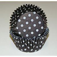 cupcake liners, polka dots, cupcakes, polkadot, black polka, blackwhit polka, cupcak liner, kitchen, black white polka dot cupcake