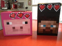 valentine box, minecraft valentin, valentin box