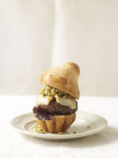 Curry Lamb Burger with Olive Relish
