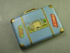 Vtg 1939 NY Worlds Fair Enamel Suitcase Travel Luggage Bag Powder Compact | eBay