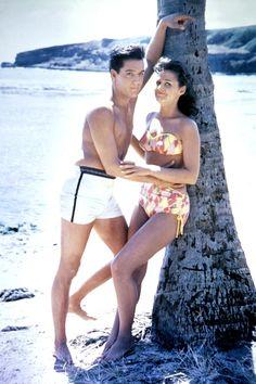 Blue Hawaii, 1961  Elvis and Joan Blackman on set