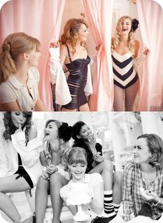 Vintage lingerie bachelorette party
