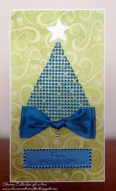 Xyron and gel-a-tins Christmas Card by Sharon Callis    http://sharoncalliscrafts.blogspot.ie/