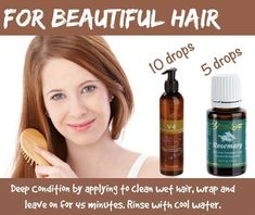 Deep Conditioner for Beautiful Hair.  With Young Living essential oils.  Want to try this.