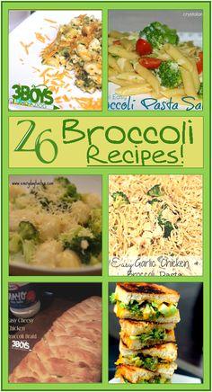 26 Healthy Broccoli Recipes Healthy Broccoli Recipes {March Seasonal Vegetable}