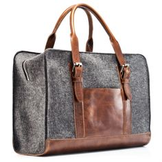 wool and leather carryon