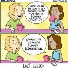 By Korey Asher. Teacher's Last Lesson.  Teacher Humor.