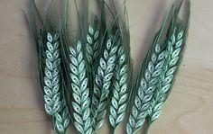 Quilled wheat strand - Epis de blé en quilling - Espigas de trigo lamina...