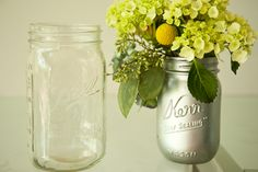 Sprayed Mason Jars