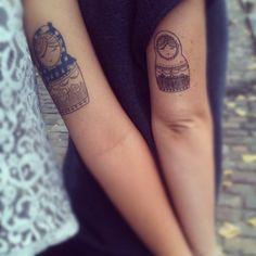 Matrioshka sisters tattoo