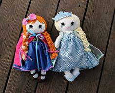 Snow sisters SET Frozen Elsa Anna Handmade by deniseslittledreamer