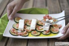 Receta de ensalada templada de calabacín, tomate y queso feta