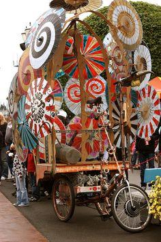 Umbrella parade float