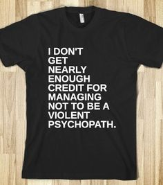 VIOLENT PSYCHOPATH - glamfoxx.com - Skreened T-shirts, Organic Shirts, Hoodies, Kids Tees, Baby One-Pieces and Tote Bags