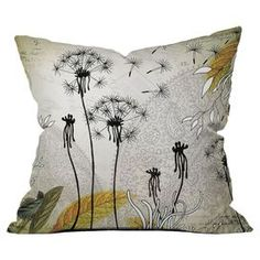 Iveta Abolina Little Dandelion Throw Pillow