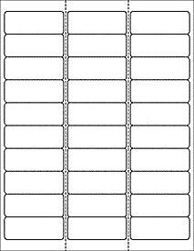 """Standard Address Label Template Item #OL875- 2.625"""" x 1"""" - 30 Labels Per Sheet"""