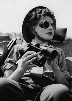 Miss Parker, a member of the Auxiliary Territorial Service, on duty as an enemy aircraft spotter near London, 1943.