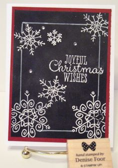 Endless Wishes Denise Foor Studio PA Stampin' Up! Perfect for a winter birthday card, too!