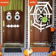 Halloween Door Decorations cute and simple for the front door :)