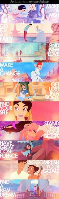 Life lessons for a girl by the Princesses