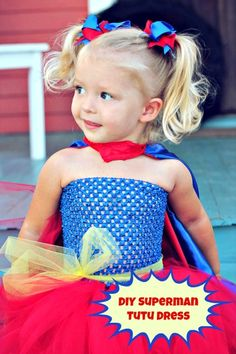 Superman Tutu Dress Tutorial