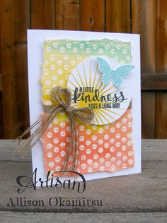 nice people STAMP!: Stampin' Up! Convention Display Board Project 4: Kinda Eclectic Water Color Card by Allison Okamitsu