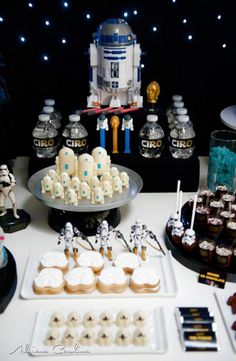 Star Wars Themed Birthday Party via www.KarasPartyIdeas.com