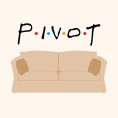 Ha! Pivot - Friends Tribute Art Print