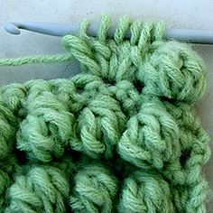 Instructions for bobble stitch