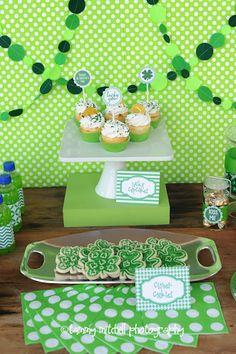 St Patricks Day Party Idea via www.karaspartyideas.com