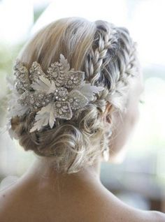 Such a pretty idea for a different up-do for wedding!I did this on Lily for a wedding with great  success and received several compliments on it. I did an extra knot and added a couple mini braids
