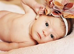 Baby headband for photos tutorial