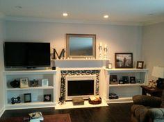 Basement ideas on pinterest long narrow rooms long for Long narrow basement design solution
