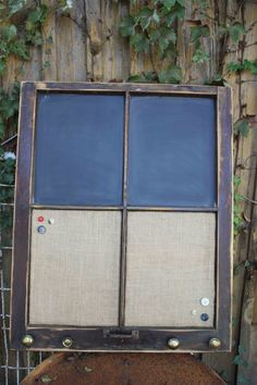 messag, window frame, old windows, upcycling windows, cork board, chalkboard, upcycle windows, wood frames, upcycl window